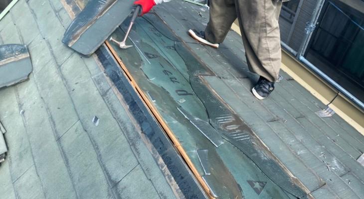 屋根パミールをコロニアルグラッサへ葺き替え!外壁は遮熱性のあるラジカル制御型シリコンREVOを採用!